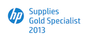 Logo HP Supplies Gold Specialist 2013